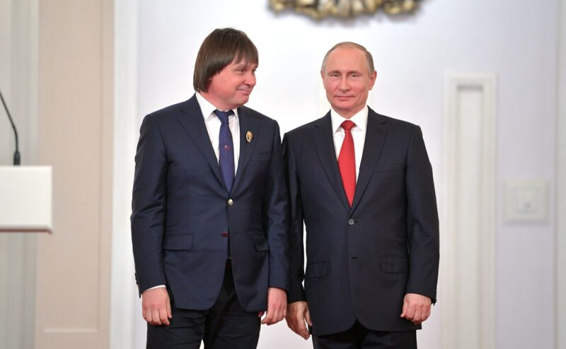 Евгений Покушалов и Владимир Путин