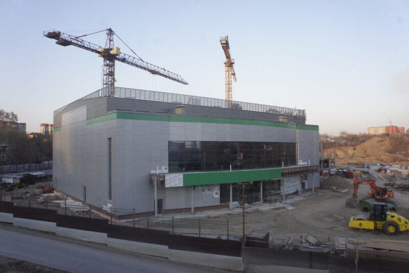 Малый зал строящегося волейбольного центра в Новосибирске