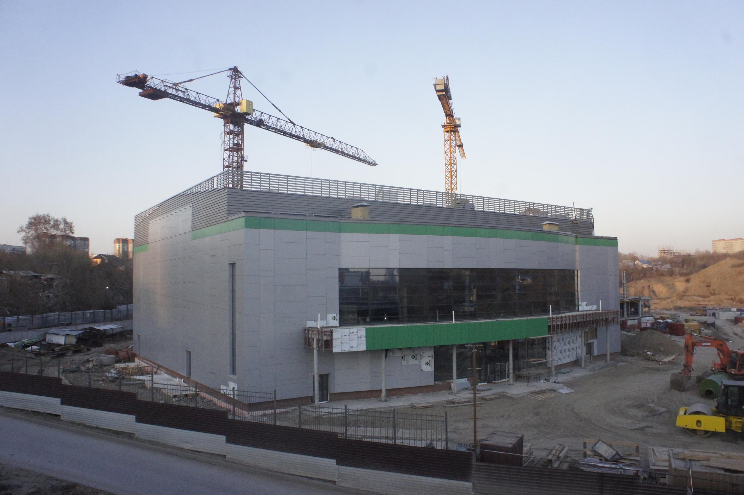 Фасад спорткомплекса