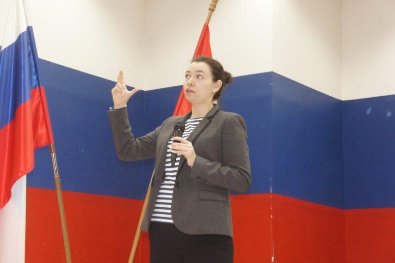 Специалист РУСАДА Екатерина Сизикова ведет семинар в Новосибирске. Фото автора