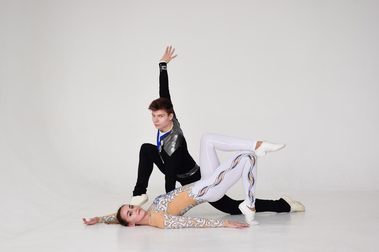 Татьяна Конакова и Григорий Шихалеев. Фото предоставлено Новосибирским центром высшего спортивного мастерства