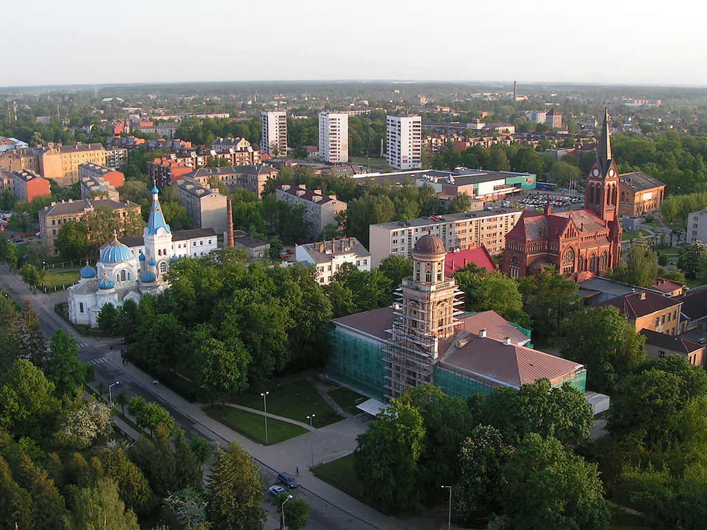 город Елгава в Латвии