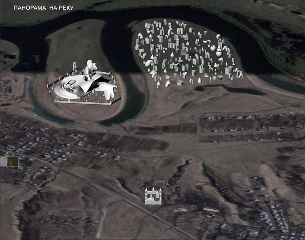 Панорама Чаусского острога и Арт-парка