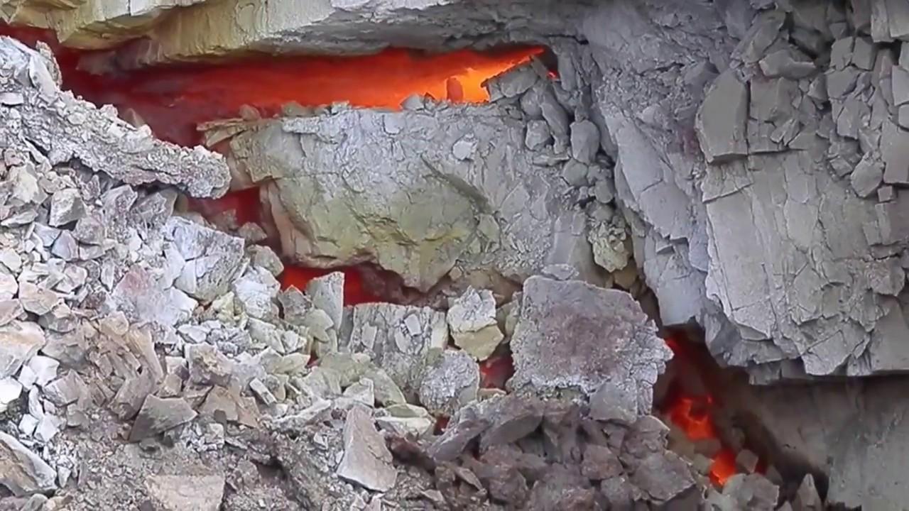 горящий угольный пласт
