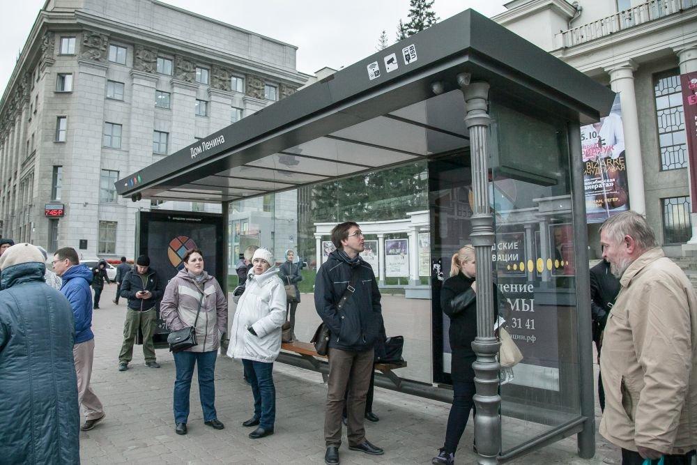 Умная остановка в Новосибирске