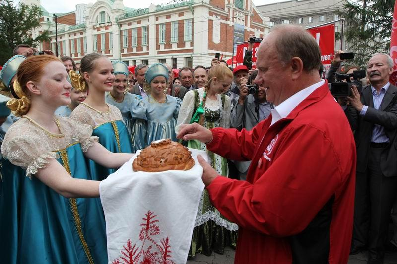 Геннадий Зюганов в Новосибирске
