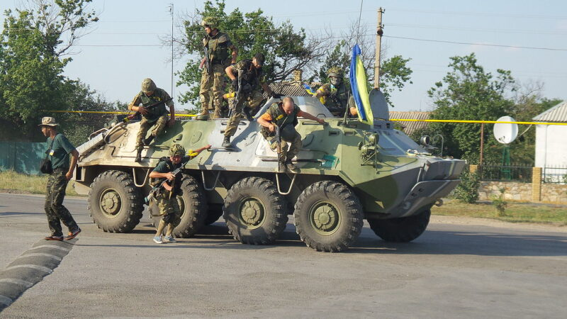 Бойцы батальона «Донбасс» в зоне боевых действий