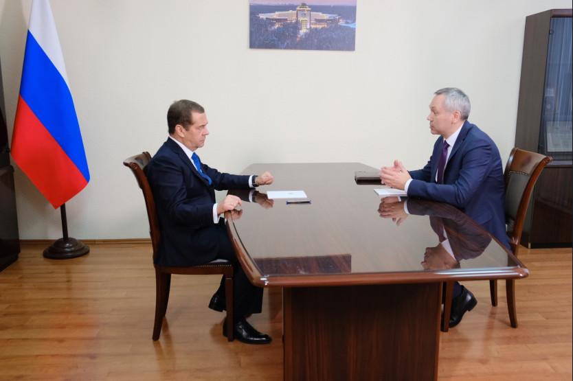 Дмитрий Медведев и Андрей Травников