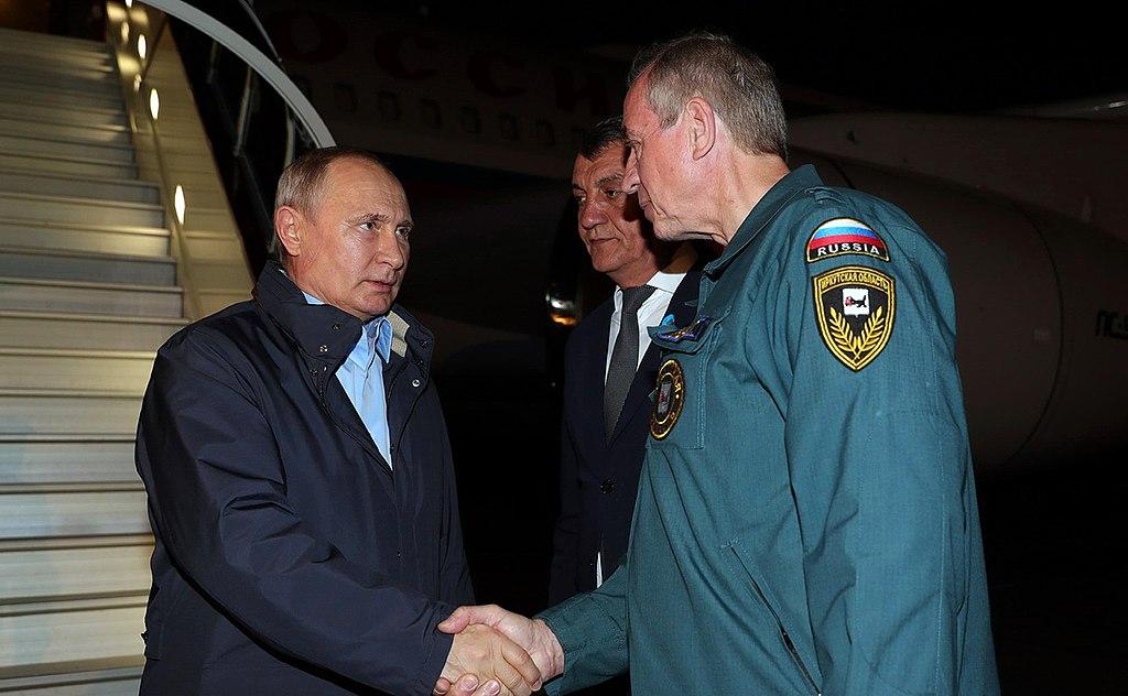 Владимир Путин и Сергей Левченко
