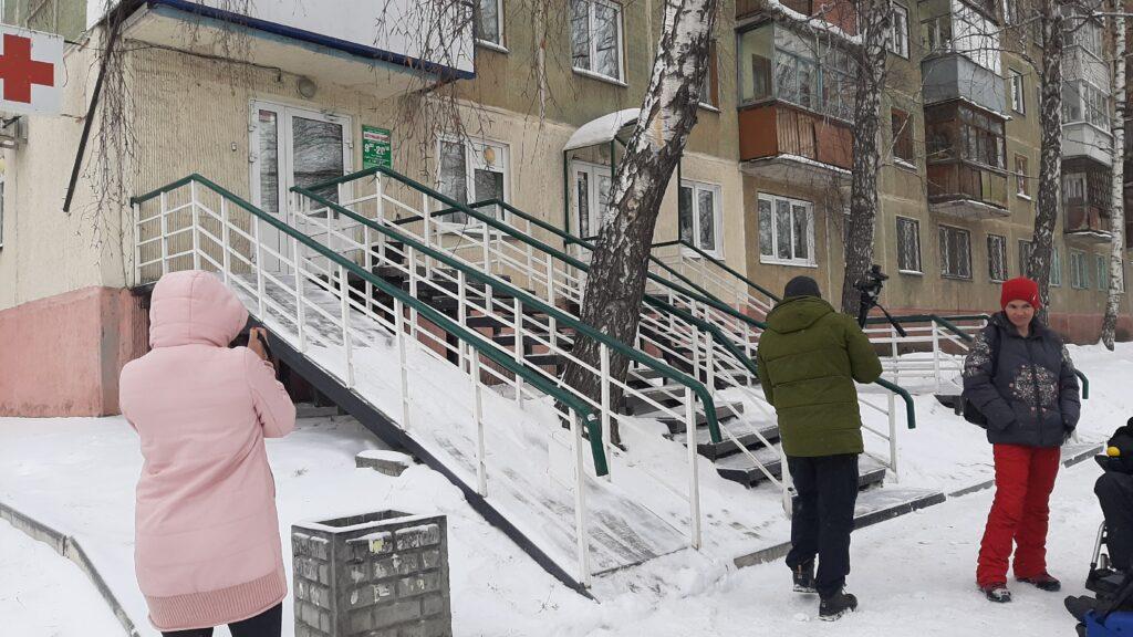 в Новосибирске испытали пандус аптеки