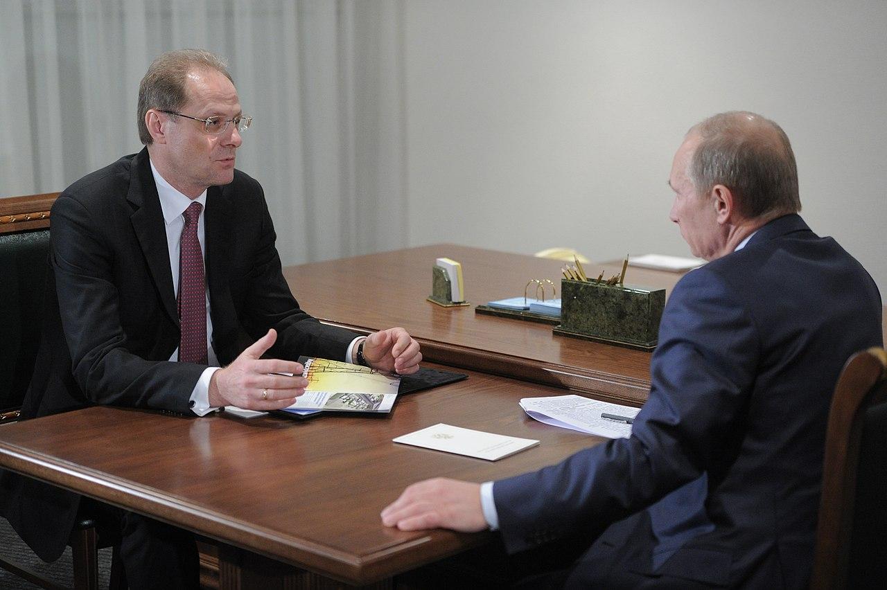 Василий Юрченко и Владимир Путин