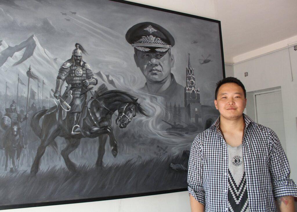 Картина «Министр обороны России Сергей Шойгу и полководец Чингисхана Субэдэй»