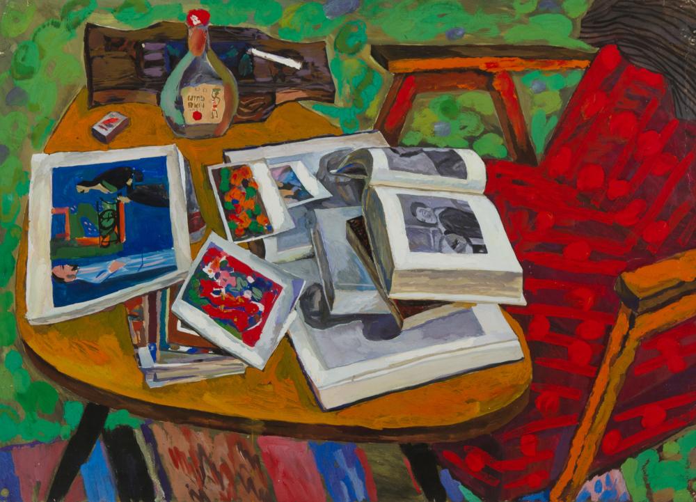 Бухаров Виктор Семенович. Натюрморт с книгами.