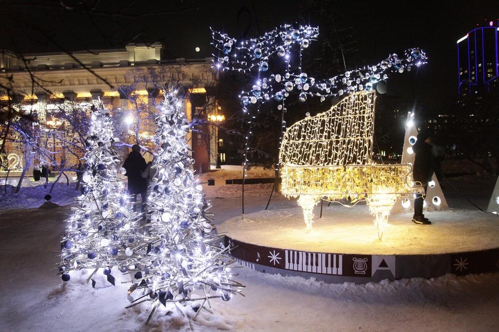 Новогодний Новосибирск