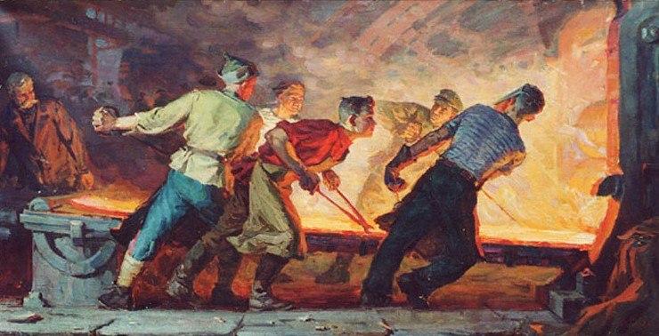 И. Бевзенко. Молодые сталевары