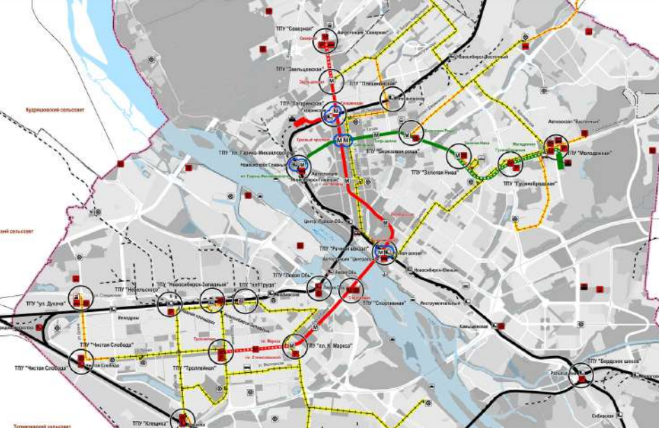 Схема метро Генплан