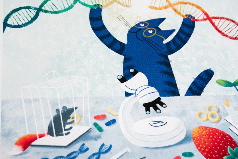 Рисунок Елены Рюминой из календаря СО РАН на 2020 год