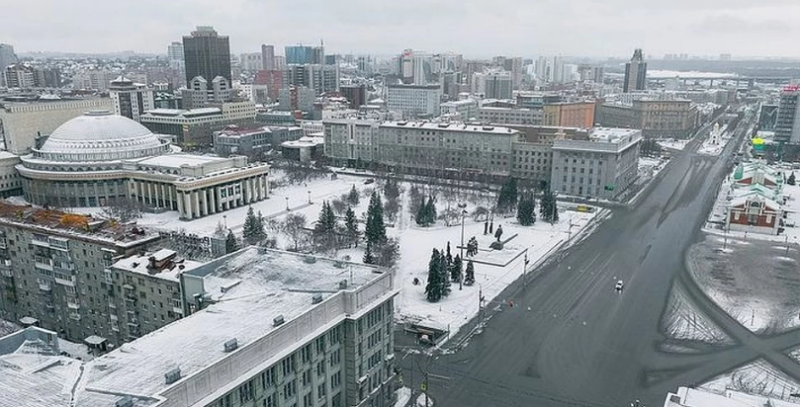 Опустевший Новосибирск