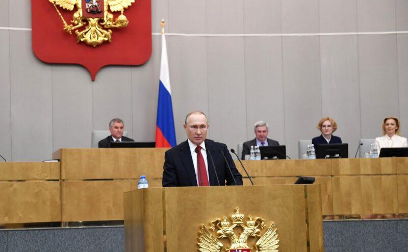 Владимир Путин на пленарном заседании Госдумы. Фото: kremlin.ru