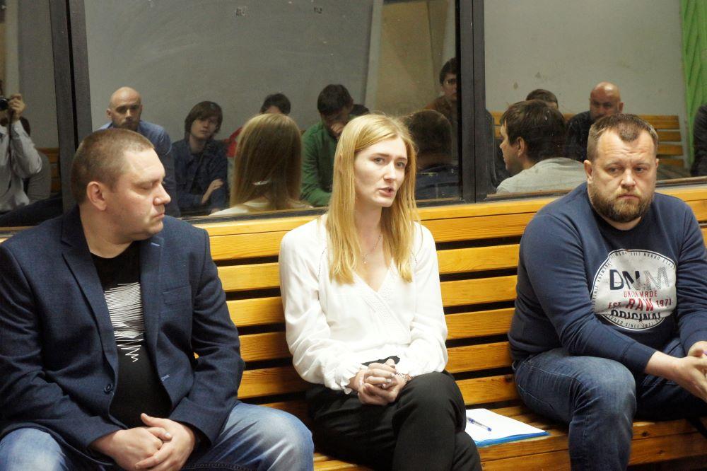 Генеральный директор ФК «Новосибирск» Анна Баранова на встрече с болельщиками. Фото автора