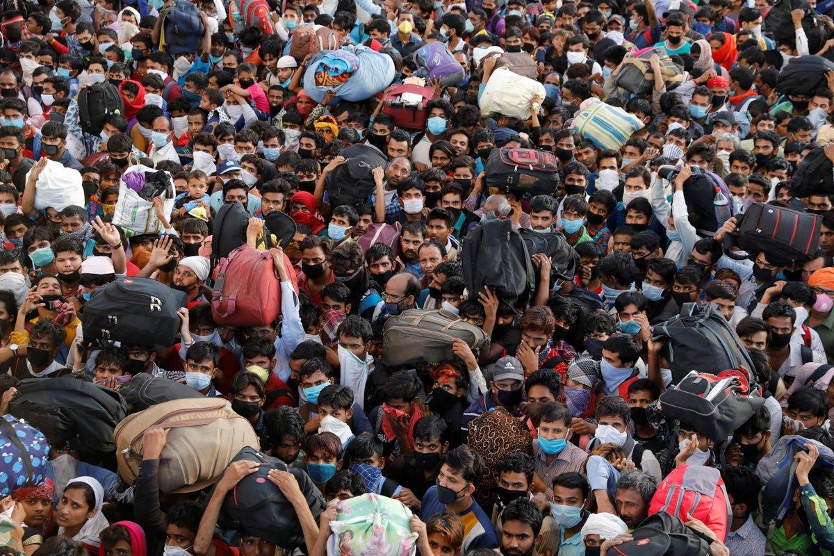 Коронавирусная паника в Индии. Фото из социальных сетей.