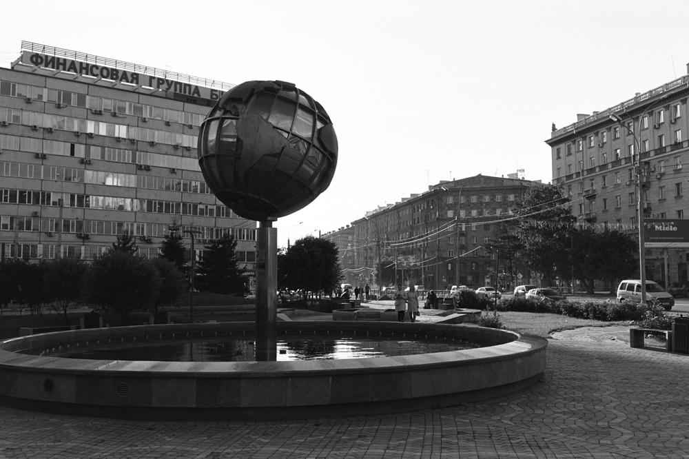 Черно-белый Новосибирск