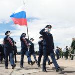 Репетиция Парада Победы в Новосибирске, 16 июня 2020