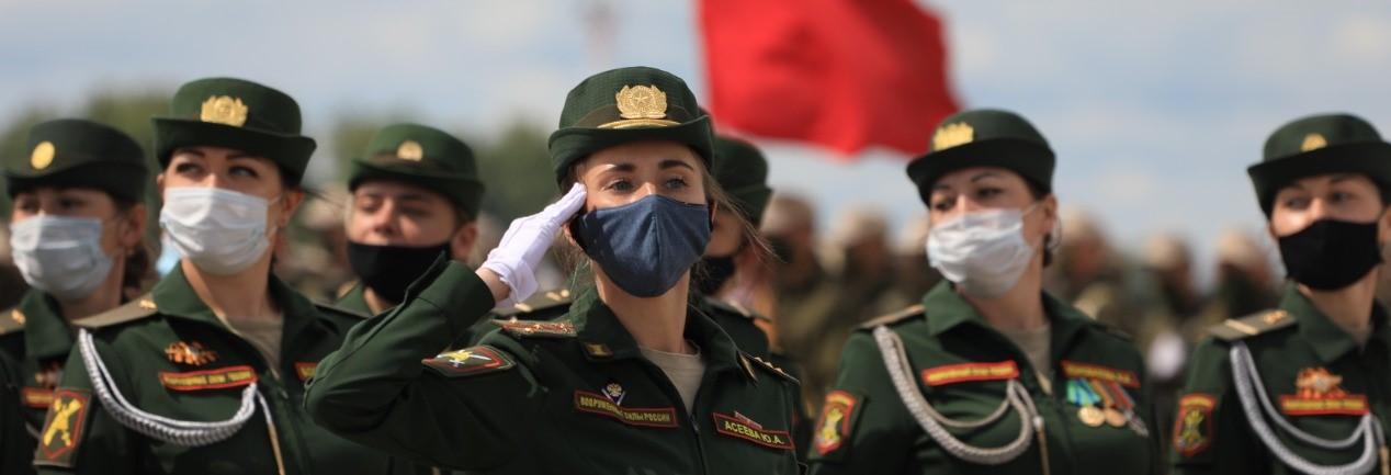 Репетиция Парада Победы. Фото: ЦВО