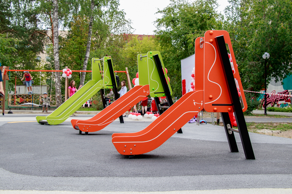 Новая площадка в Центральном парке