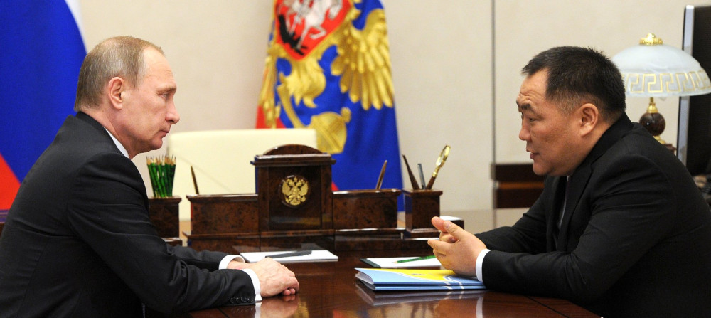 Шолбан Кара-оол и Владимир Путин, 2016 год