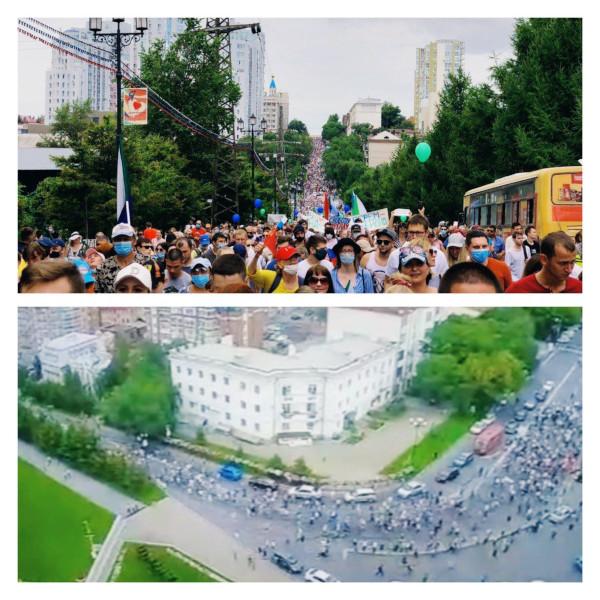 То же самое происходит и в других городах, где проходят акции в поддержку Фургала. Так, в Омске участники «кормления голубей» скандировали: «Со страной у нас беда, просыпайтесь города».