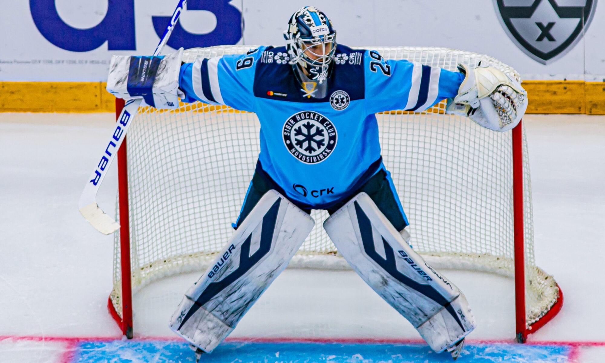Вратарь «Сибири» Харри Сятери. Фото из официальной группы ХК «Сибирь» ВКонтакте