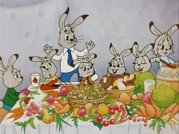 """""""Четыре сыночка и лапочка дочка"""" (фрагмент мультфильма """"Мешок яблок"""")"""