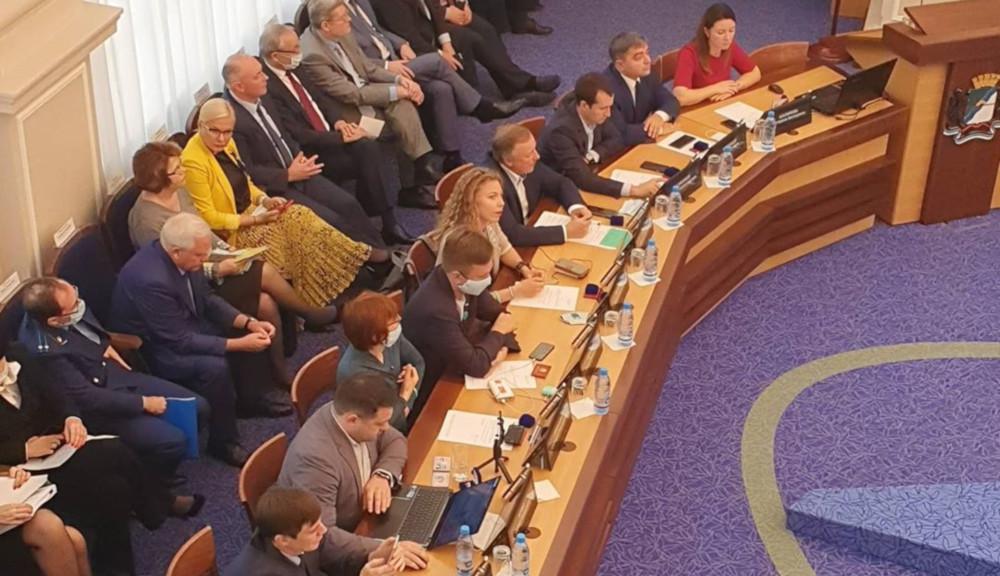 Сектор оппозиции в Горсовете Новосибирска. Фото из социальных сетей