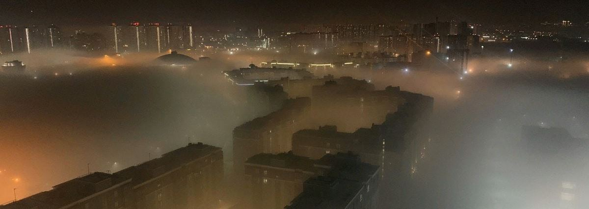 красноярск в зимнем тумане