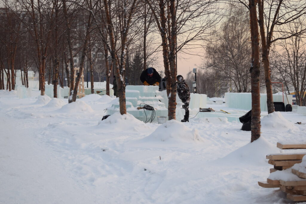 Ледовый городок в Новосибирске