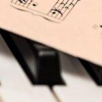 Ноты на клавишах