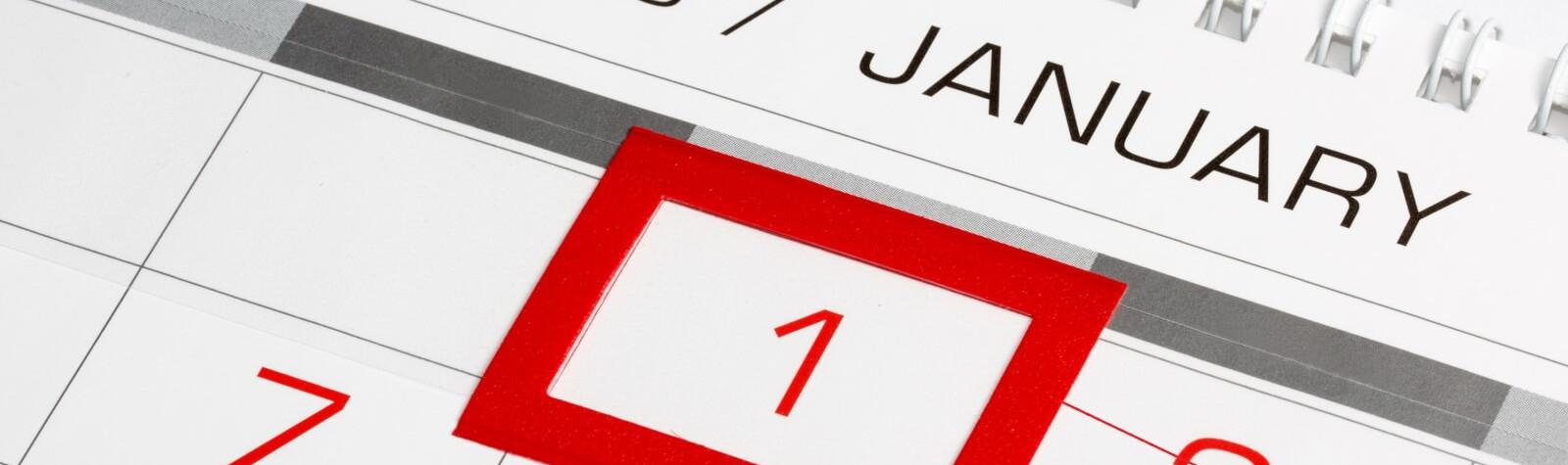 1 января