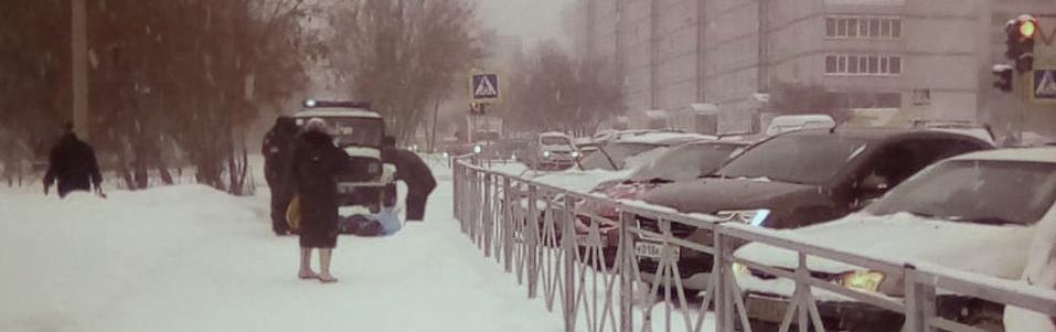 заснеженный город новосибирск