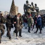 Задержания в Новосибирске 23 января