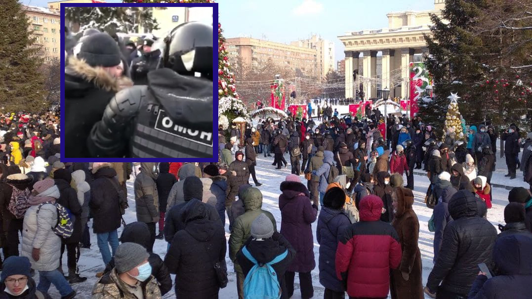 Протест в Новосибирске