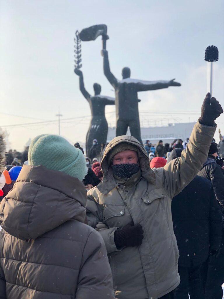 митинг, площадь Ленина