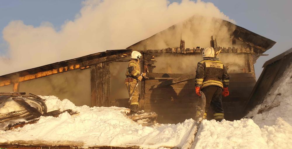 пожары в Томске