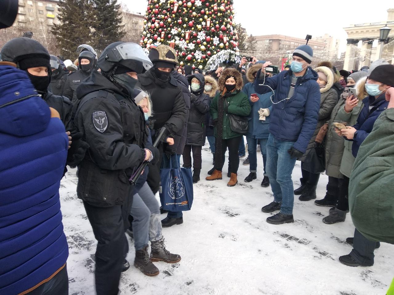 задержание, ОМОН, митинг 23 января