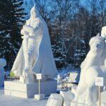 Снежные фигуры в Первомайском сквере