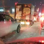 В первый рабочий день в Новосибирске столкнулись пять автомобилей