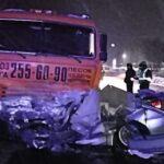 Смертельная авария в Новосибирске: иномарка врезалась в КамАЗ