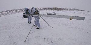 запуск беспилотника зимой