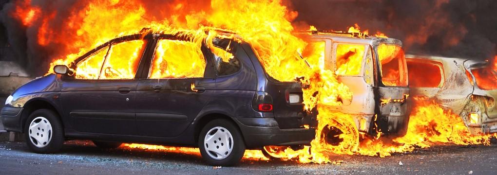 пожар, автомобиль