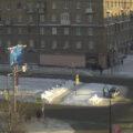 Движение на Красном проспекте ограничено. Источник: веб-камера на Перекрестке с улицей Крылова